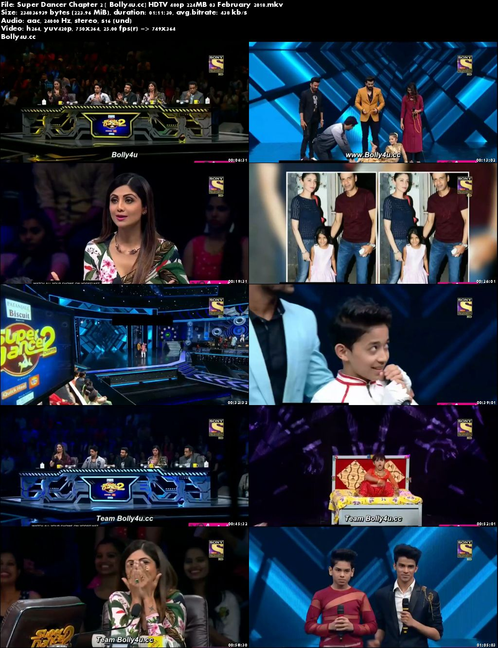 Super Dancer Chapter 2 HDTV 480p 200MB 03 February 2018 Download