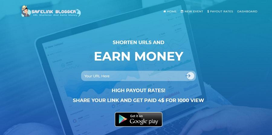 mencari uang dollar gratis dengan safelinkblogger.com