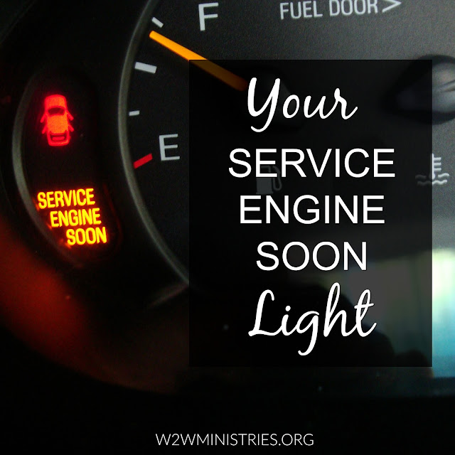 Just as your car has a service engine soon light, so does your spiritual walk. Learn how to recognize that light and how to fix it.