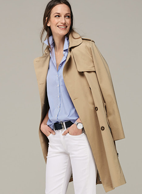ladies classic long trench
