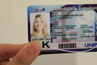 Carteira de estudante terá valor mínimo de R$ 18 em Campina Grande