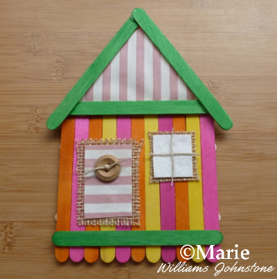 beach hut summer craft with kids craft supplies