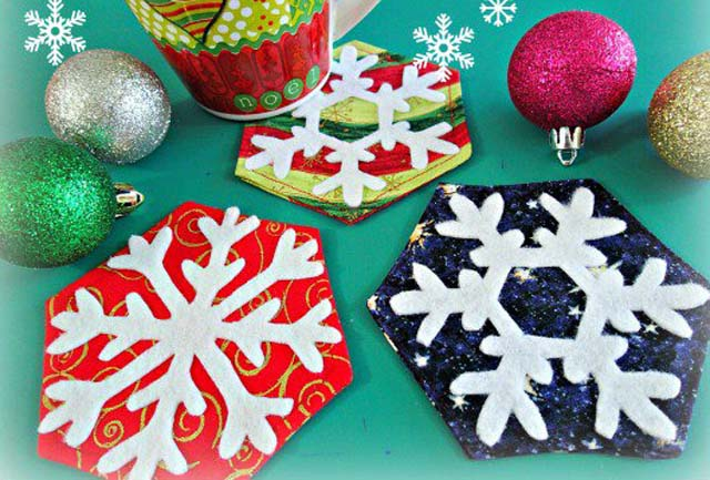Snowflake Coasters Tutorial