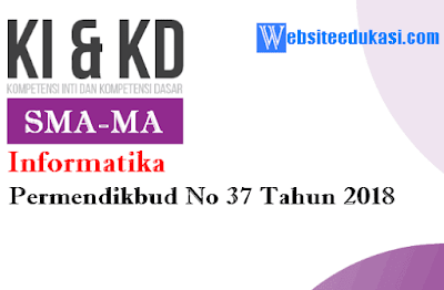 KI dan KD Informatika SMA/MA berdasarkan Permendikbud No 37 Tahun 2018