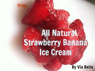 All Natural Strawberry Banana Ice Cream, Homemade, Spring, Ice Cream, Kids