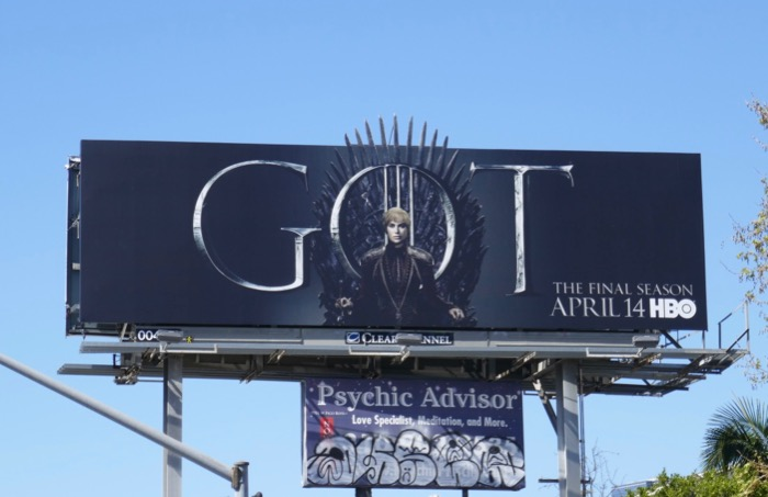 Game of Thrones final season 8 Cersei billboard