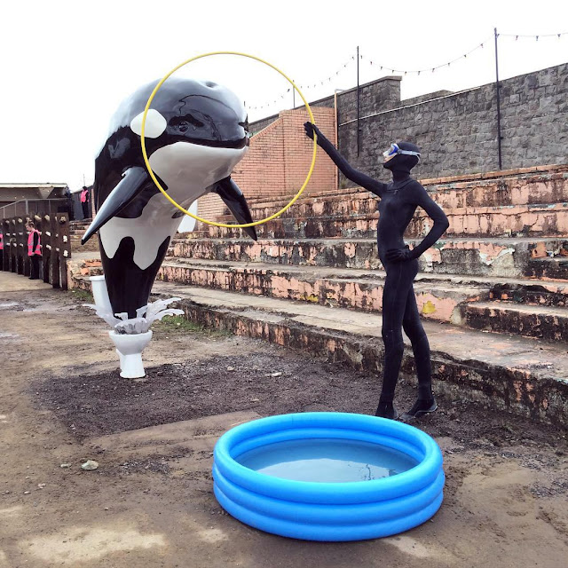 """While you discovered his latest mural earlier today, Banksy also worked and produced several installations for the opening of """"Dismaland Bemusement Park"""" in Weston-Super-Mare, UK."""