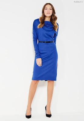 vestidos azul rey cortos