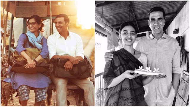 Padman - Akshay Shares New Pics Revealing co-star Radhika Apte and Sonam Kapoor