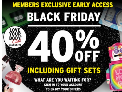 The Body Shop Black Friday Preview Love Your Body Club Exclusive