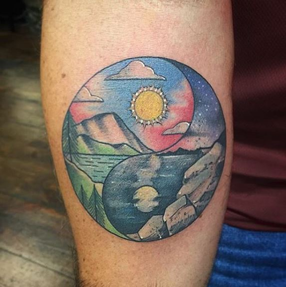 Top 50 Yin Yang Tattoos For Best Friends and Couples (2017)