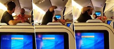 """""""Έπαιξαν"""" μπουνιές μέσα στο αεροπλάνο!"""