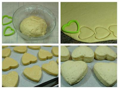 Formado de las galletas corazón