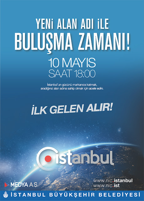 Türkiye'nin tek milli alan adı uzantıları .ist ve .istanbul herkese açılıyor