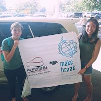 Germain and her friend (Singapore). Transport Surabaya to Bromo