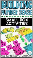 Building number sense activities for small boxes are easy to prep and purposeful, and they are perfect for little hands. It can be used for morning work, a math center, early finisher work, etc., to help your students to build their numeracy skills!