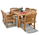 Amazonia Teak Oslo 7-Piece Teak Dining Rectangular Set