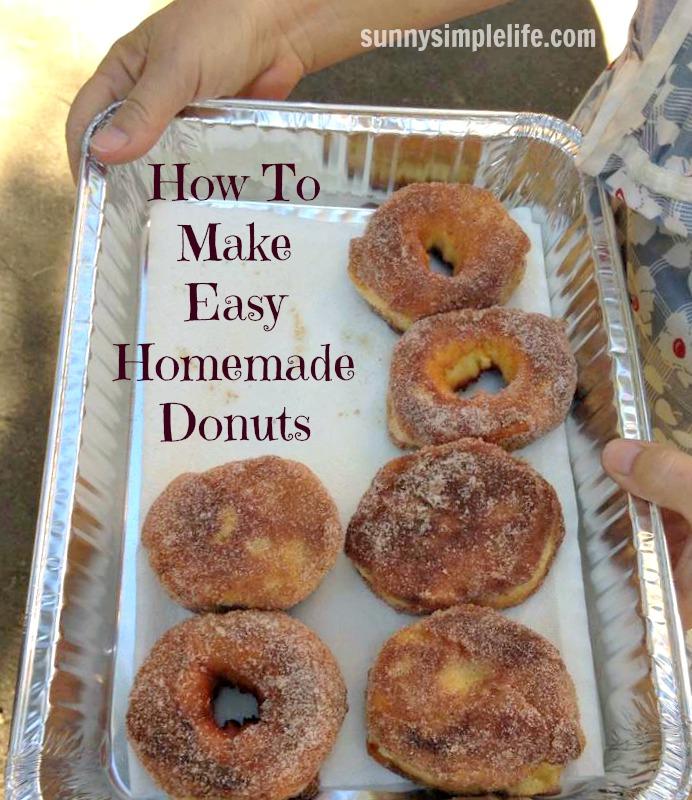 homemade donuts, campfire donuts