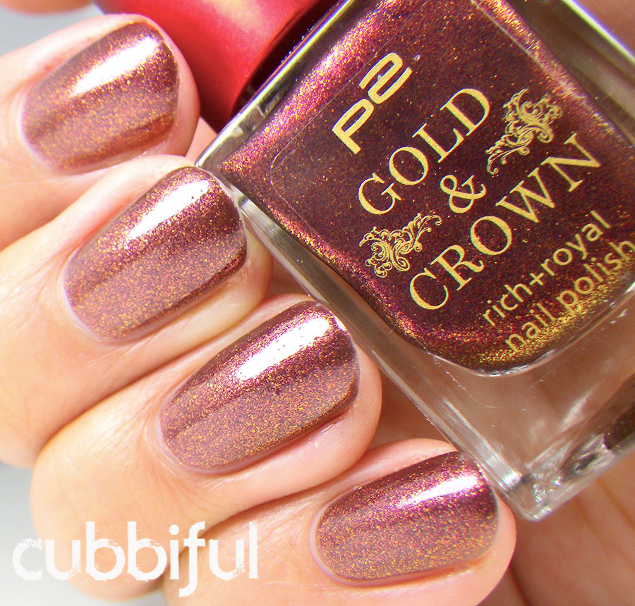 swatch P2 Gold & Crown Brown Splendor 010