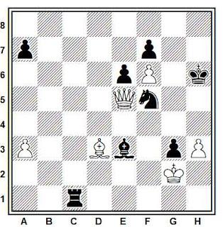 Posición de la partida de ajedrez Kine - Mol (Polonia, 1991)