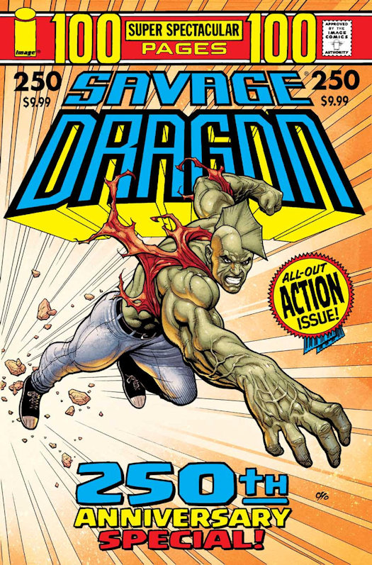 Walt Simonson, Frank Cho, Erik Larsen & Ryan Ottley Covers for Savage Dragon #250