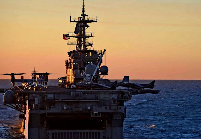 Image Attribute:  INDIAN OCEAN (July 16th, 2015) The amphibious assault ship USS Bonhomme Richard (LHD 6) is underway during a formation exercise between the Royal Australian Navy and the U.S. Navy. Ashland is in the Indian Ocean participating in Talisman Sabre 2015, a bilateral exercise intended to train Australian and U.S. forces in planning and conducting combined task force operations. (U.S. Navy photo by Mass Communications 3rd Class David A. Cox/Released) / 150716-N-KM939-181