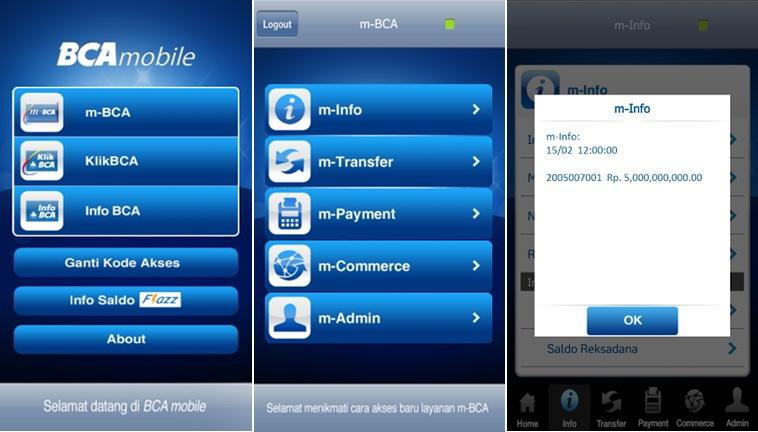 Top 5 Aplikasi Android Mobile Banking Resmi Untuk Cek Saldo Atm
