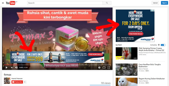Bagaimana jana income menerusi video YouTube