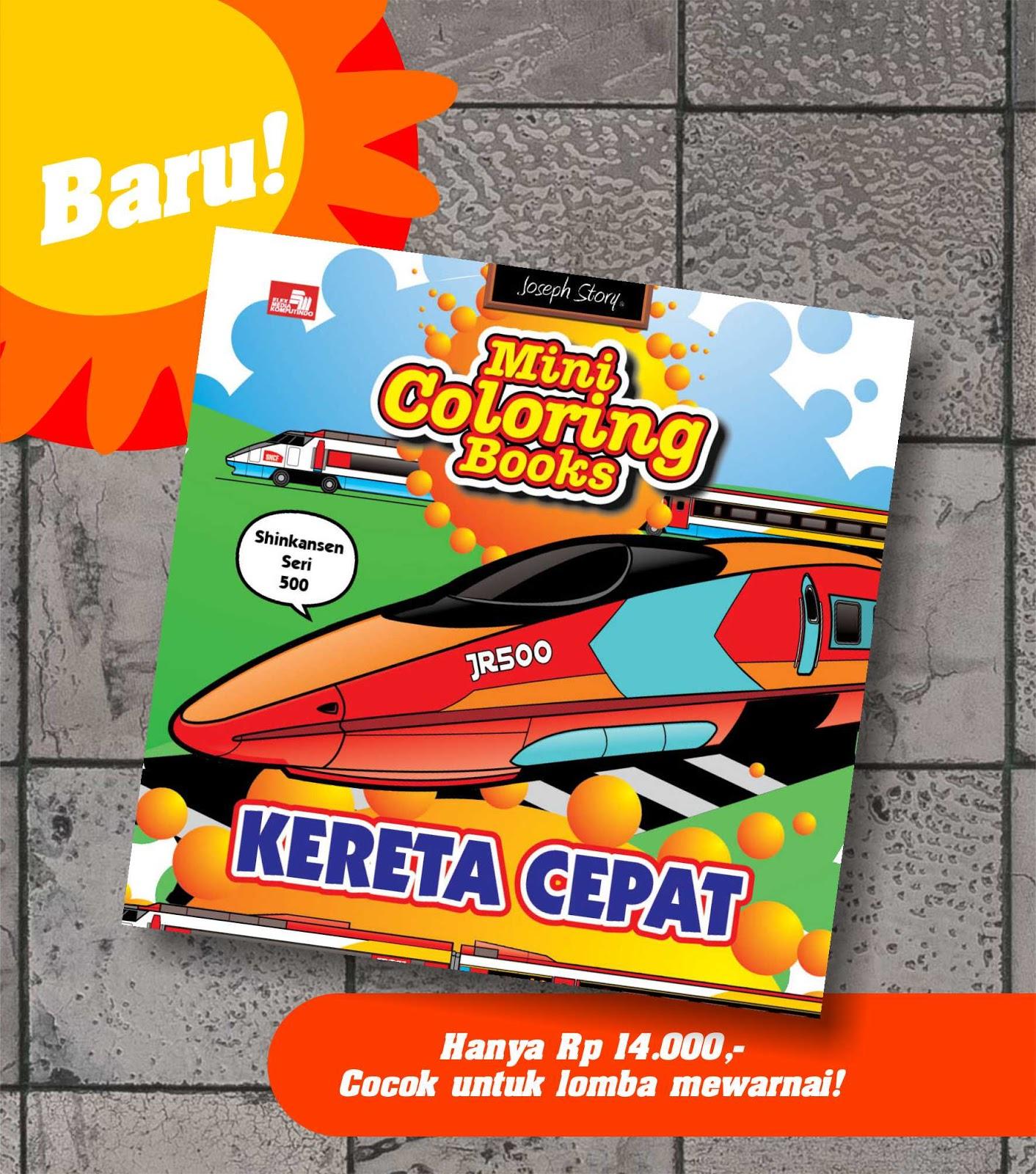 Krayonaku Majalah Gratis Anak Cerdas Buku Mini Coloring Books Kereta Cepat