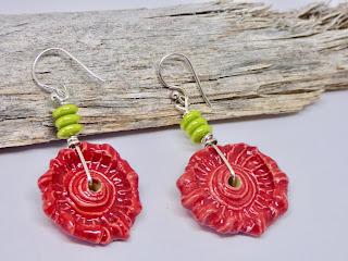 Coral Earrings by BayMoonDesign
