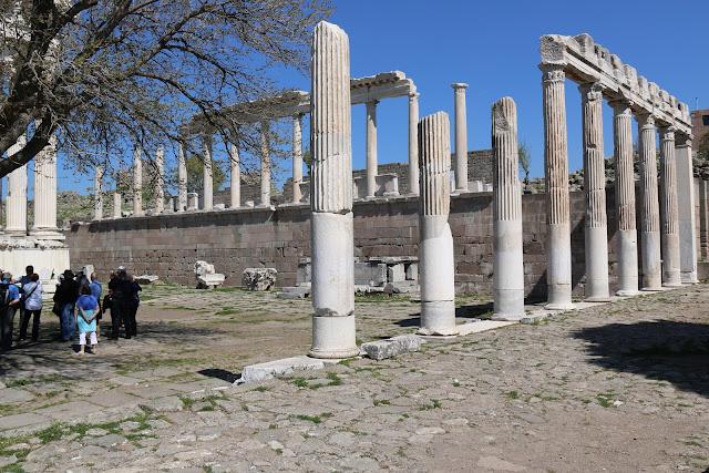 The Temple of Trojan at Pergamon in Turkey