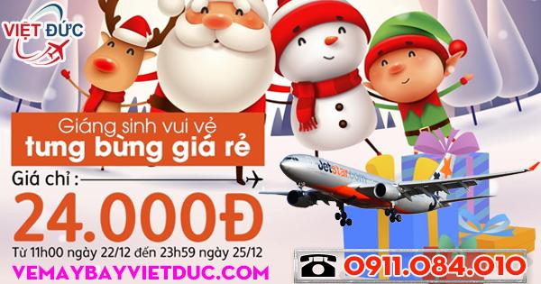 Jetstar khuyến mãi mừng giáng sinh vé từ 24k