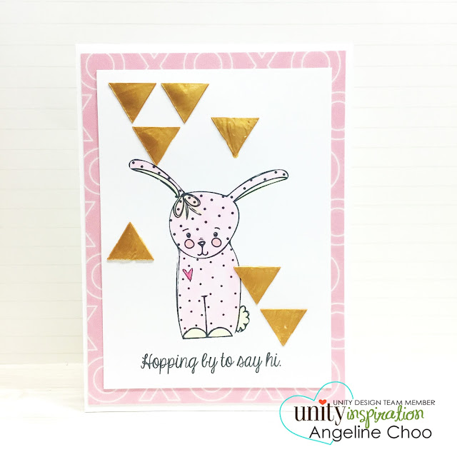 ScrappyScrappy: Unity Stamp BIG Blog Hop [NEW VIDEOS] - Metallic Gold Emboss  #scrappyscrappy #unitystampco #stamp #card #metallic #copic #vivadecor #quicktipvideo #youtube #emboss #bunny #heidiswapp #stencil
