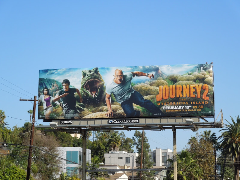 Journey 2 movie billboard