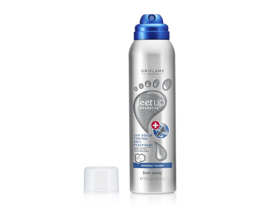 Spray de Pés Antitranspirante Odour Control 36H Feet Up Advanced