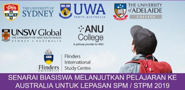 Biasiswa Bagi Lepasan Spm Stpm 2019 Untuk Program Asasi Diploma Di Australia Mypendidikanmalaysia Com