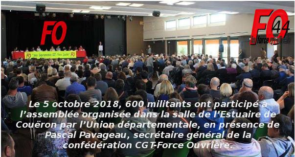 ASSEMBLÉE FO44 avec Pascal PAVAGEAU