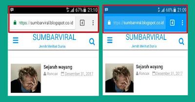 Cara Merubah Warna Addressbar Browser Mengikuti Warna Template Blog