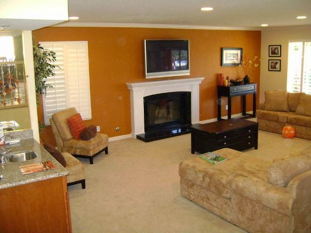 Accent wall paint ideas for living room for Living room paint ideas
