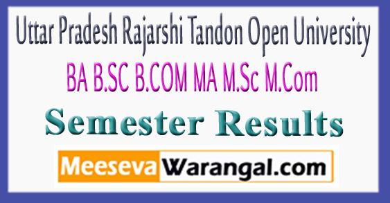 UPRTOU Uttar Pradesh Rajarshi Tandon Open University Results 2017