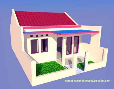 gambar desain rumah sederhana minimalis kpr-btn type 21/60