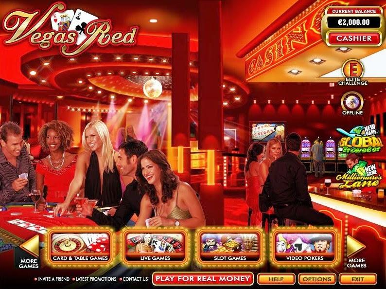 Vegas Red Home Screen