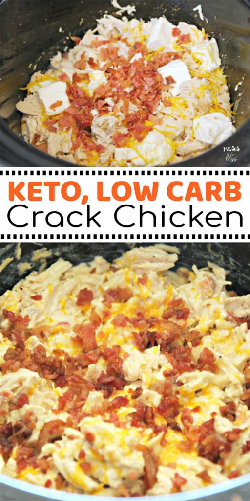 Keto Crack Chicken in the Crock Pot