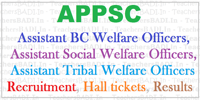 APPSC Assistant BC,Social,Tribal Welfare Officers,Recruitment,Apply online