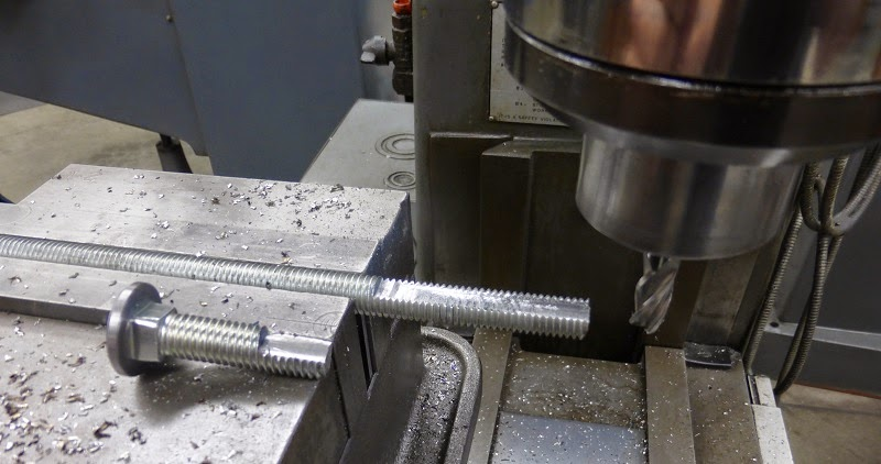 milling flats on carriage bolt and threaded rod
