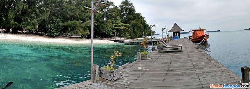 dermaga pulau semut besar di wisata pulau harapan