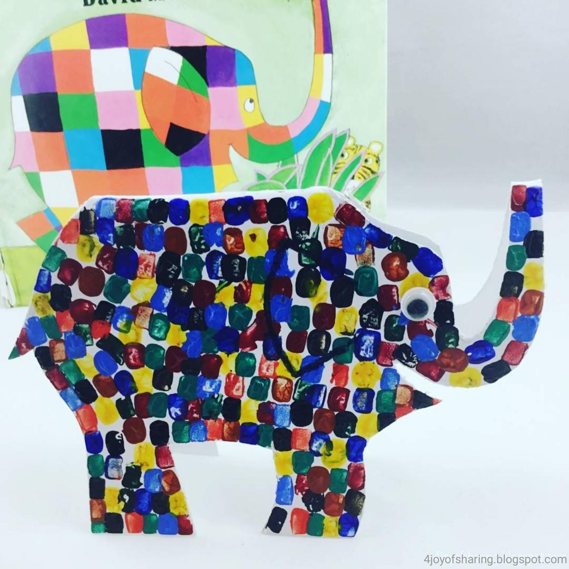 Elmer The Patchwork Elephant Craft