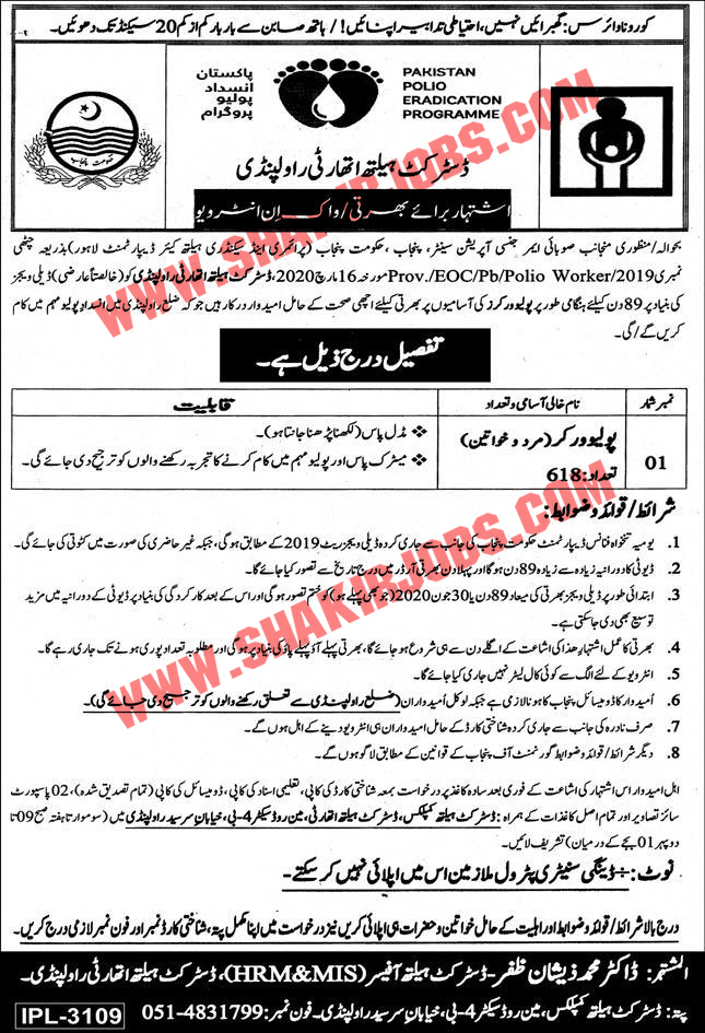 Polio Workers Jobs 2020 Apply Now