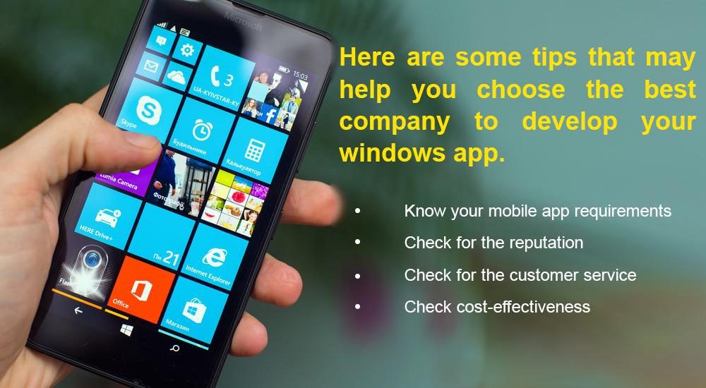 Tips To Choose A Windows App Development Company