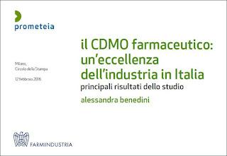 CDMO farmaceutico: studio di Prometeia e Farmindustria